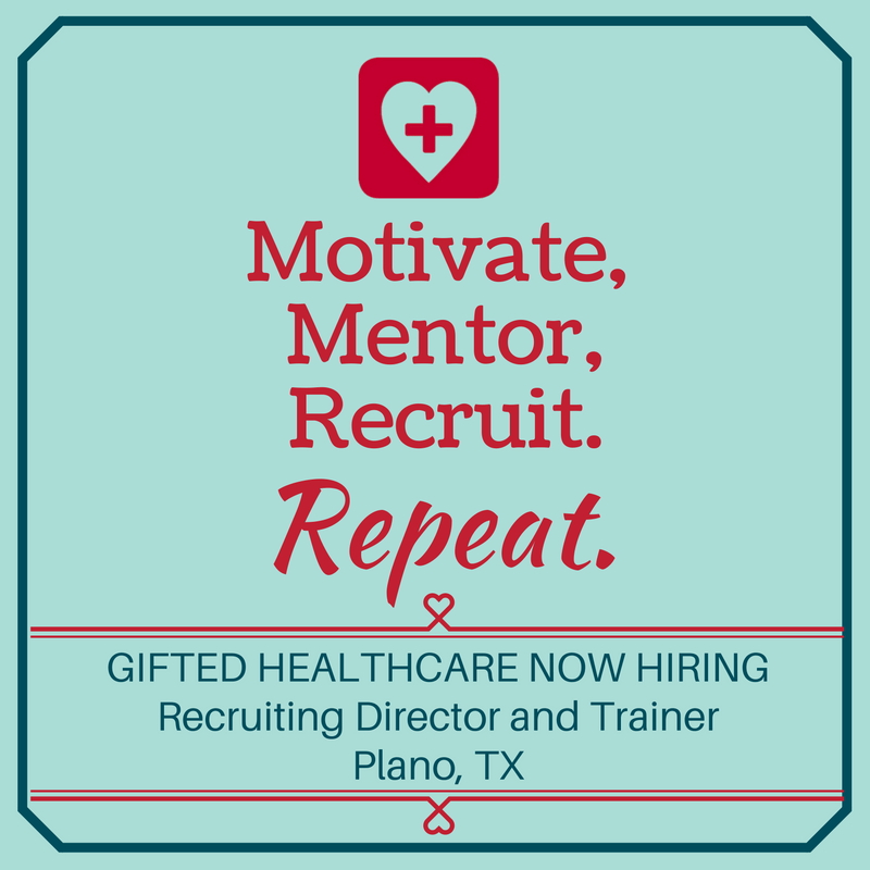 GIFTED is hiring Recruiting director and trainer