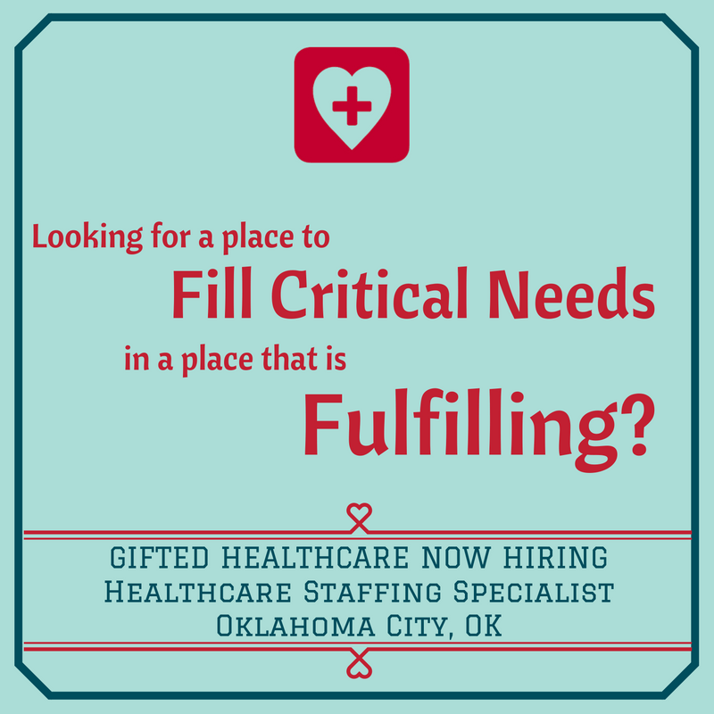 GIFTED is hiring Healthcare Staffing Specialist