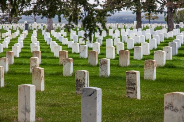Custer National Cemetery in Little Bighorn Battlefield National Monument